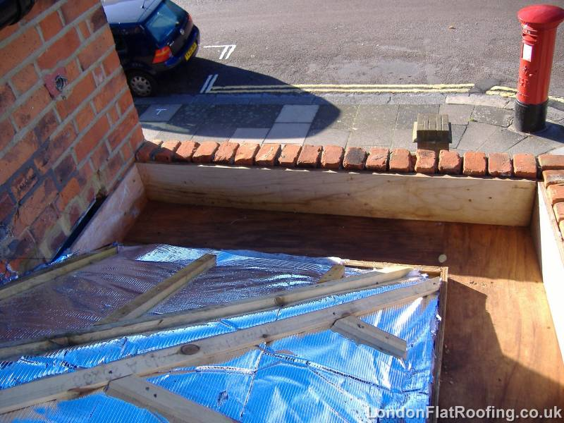 Photos Of A Box Gutter Being Lined With Epdm Single Ply