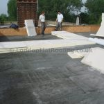 Tapered insulation new flat roof